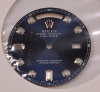 Rolex Day-Date 28,58mm dark blue with diamonds